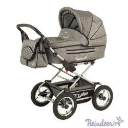 Детская коляска Reindeer Style Len 3 в 1 с конвертом (серый)
