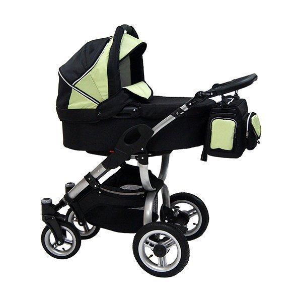 Детская коляска Reindeer City Cruse 2 в 1 (черный/желтый)