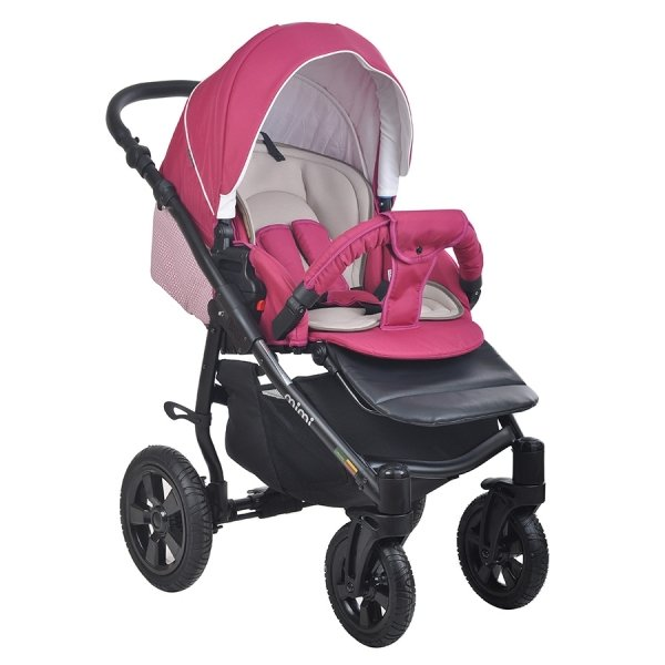 Детская коляска Tutis Mimi Plus Эксклюзив 3 в 1 (розовый)