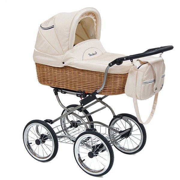 Детская коляска Reindeer Prestige Wiklina Eco-line 3 в 1 с конвертом (белый)