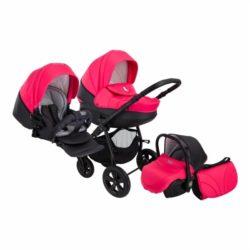 Детская коляска Tutis Tapu-Tapu 3 в 1 (красный/черный)