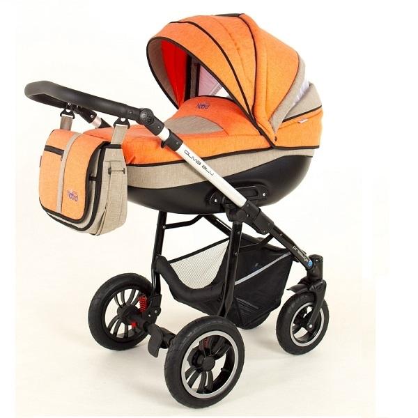 Детская коляска Noordline Olivia Alu 3 в 1 (оранж./серый)