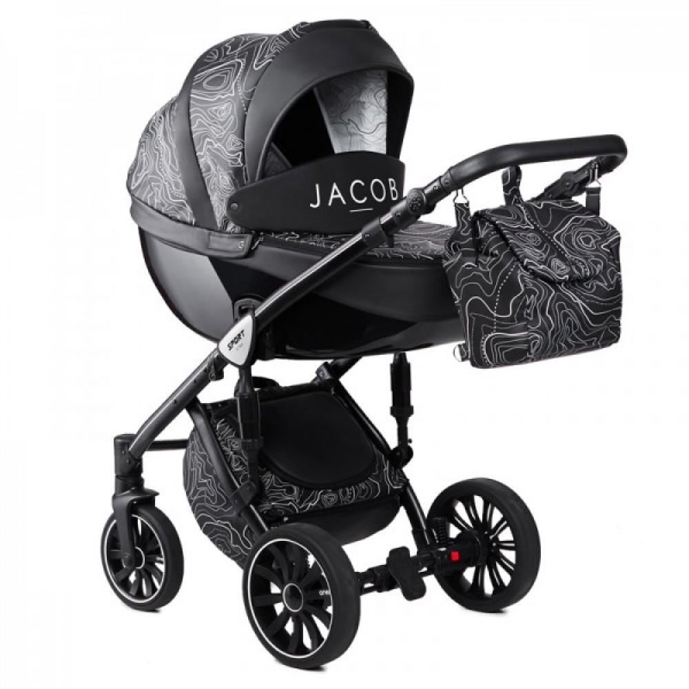 Детская Коляска Anex Sport x Jacob 3 в 1 (Серый/черный)