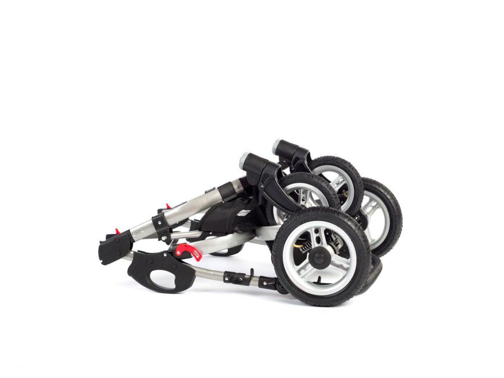 Детская коляска Reindeer City Cruise 3 в 1 (черный/белый)