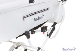 Детская коляска Reindeer Prestige Lily 2 в 1, эко-кожа (белый)