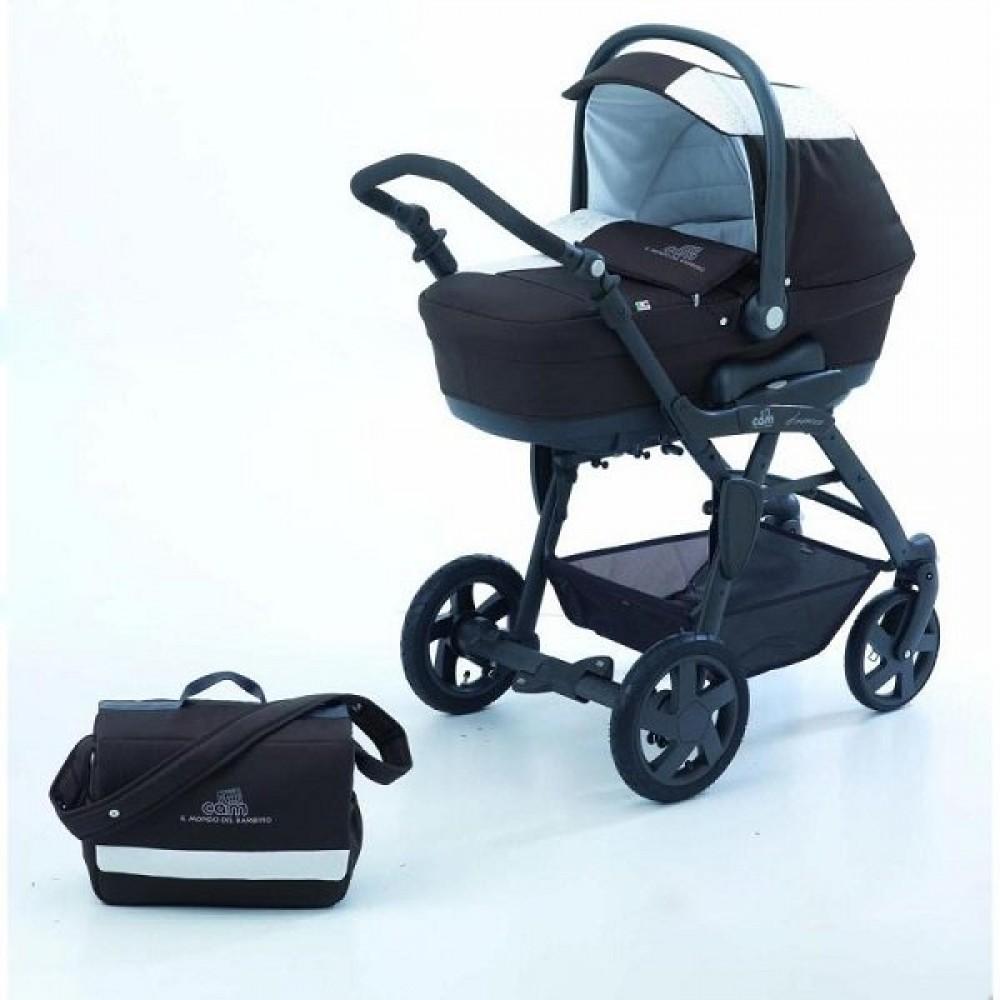 Детская коляска CAM Dinamico Fantasy 3 в 1 (черный/белый)