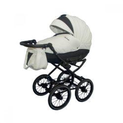 Детская коляска Esperanza Victoria Classic 2 в 1 (белый/черный)