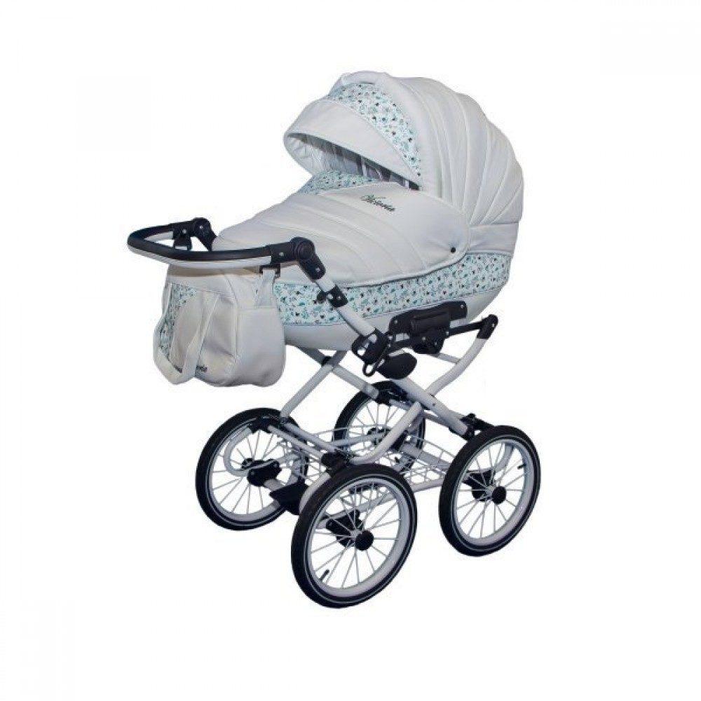 Детская коляска Esperanza Victoria Classic 2 в 1 (серый/голубой)