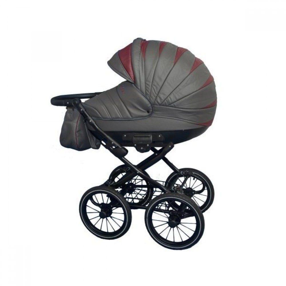 Детская коляска Esperanza Victoria Classic 2 в 1 (серый/красный)