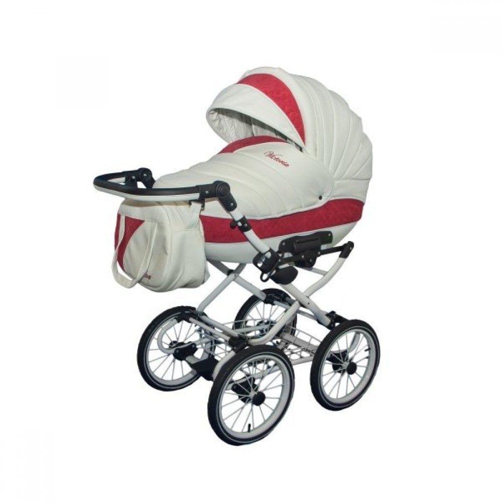 Детская коляска Esperanza Victoria Classic 2 в 1 (белый/красный)
