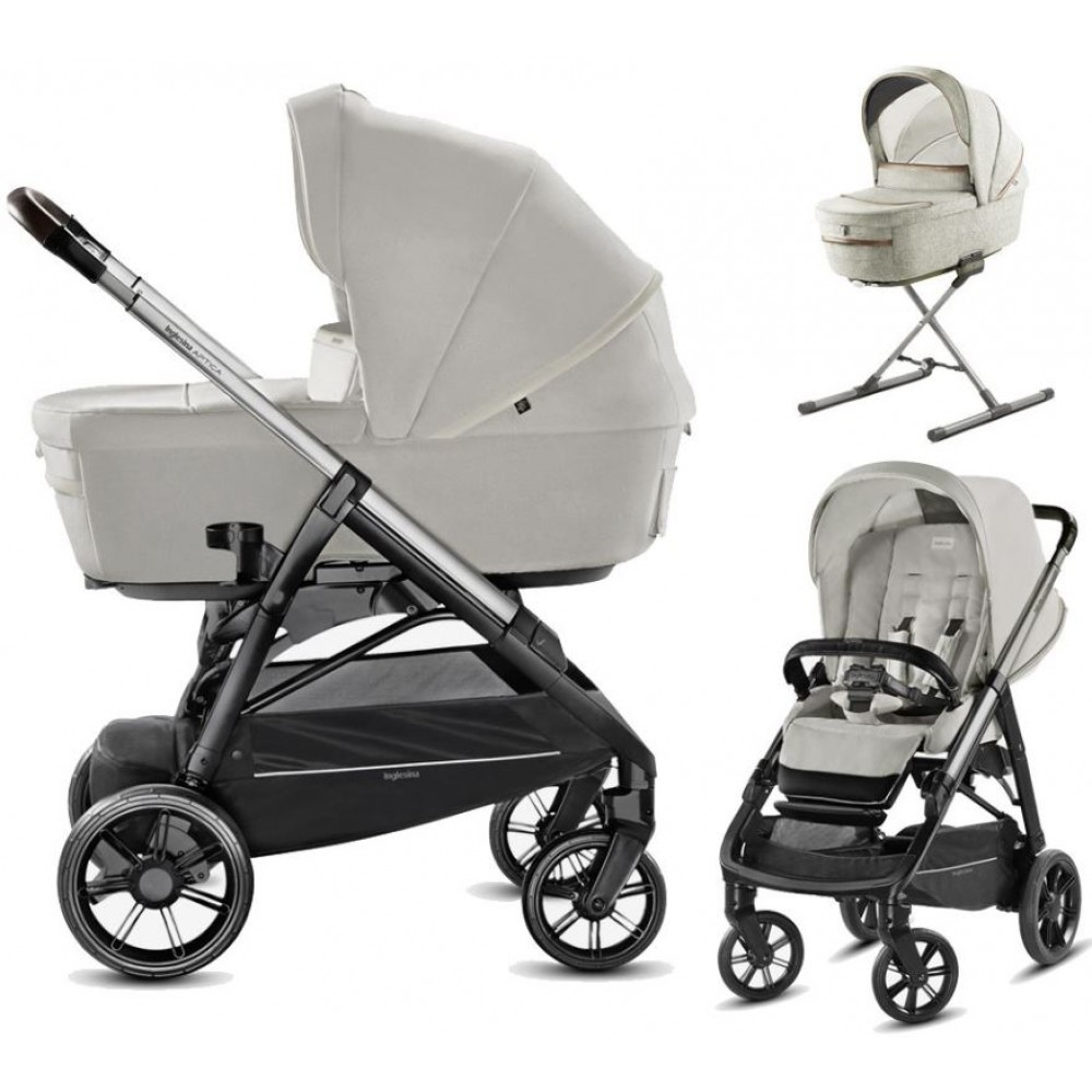 Детская коляска Inglesina Aptica System Quattro 4 в 1 (светло-серый)