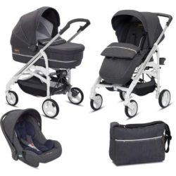 Детская коляска Inglesina Trilogy System 3 в 1 (темно-серый)