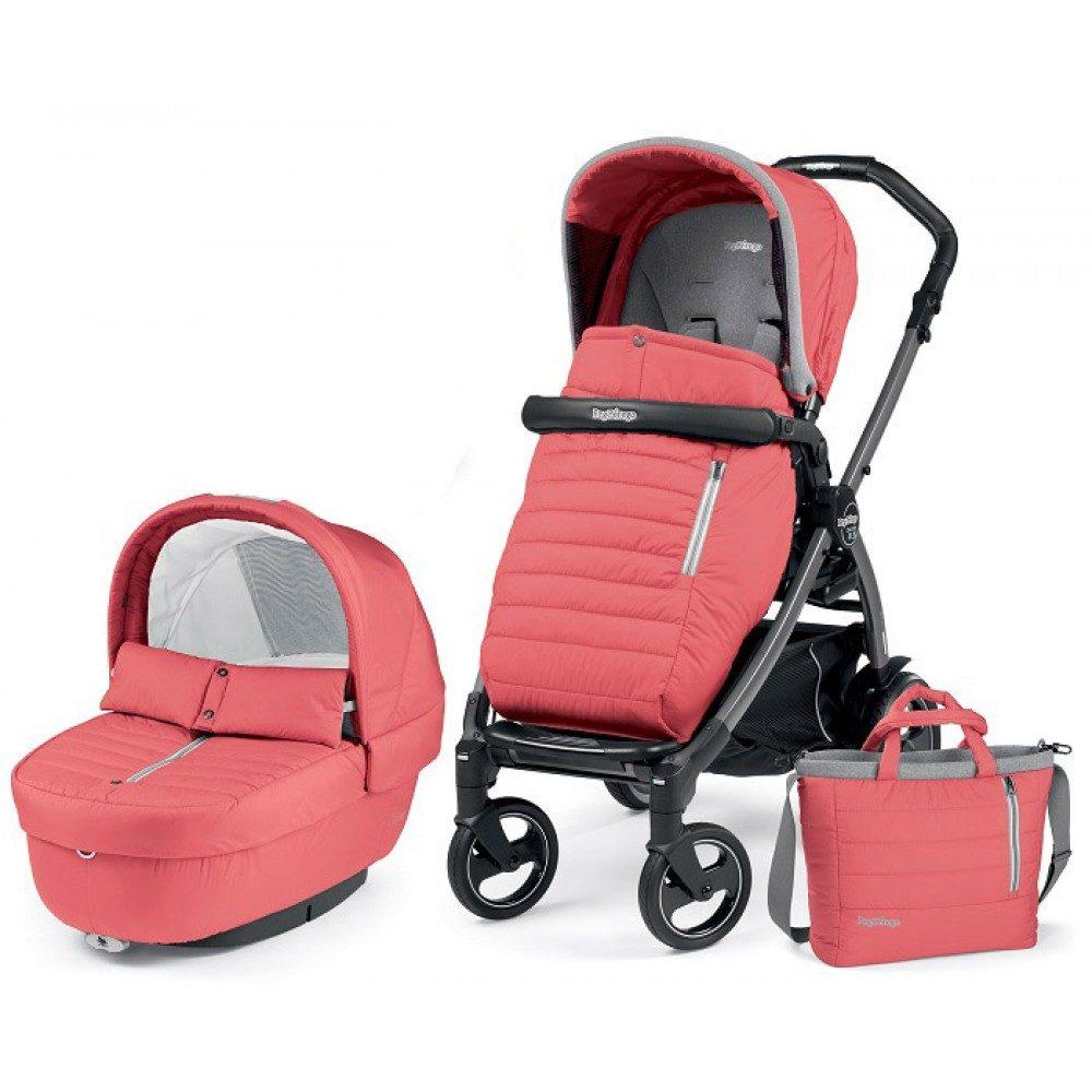 Детская коляска Peg-Perego Book 51 S Elite Modular 3 в 1 (Розовый)