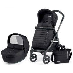Детская коляска Peg-Perego Book 51 S Elite Modular 3 в 1 (Чёрный)