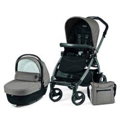 Детская коляска Peg-Perego Book 51 S XL Modular 3 в 1 (Серый/черный)
