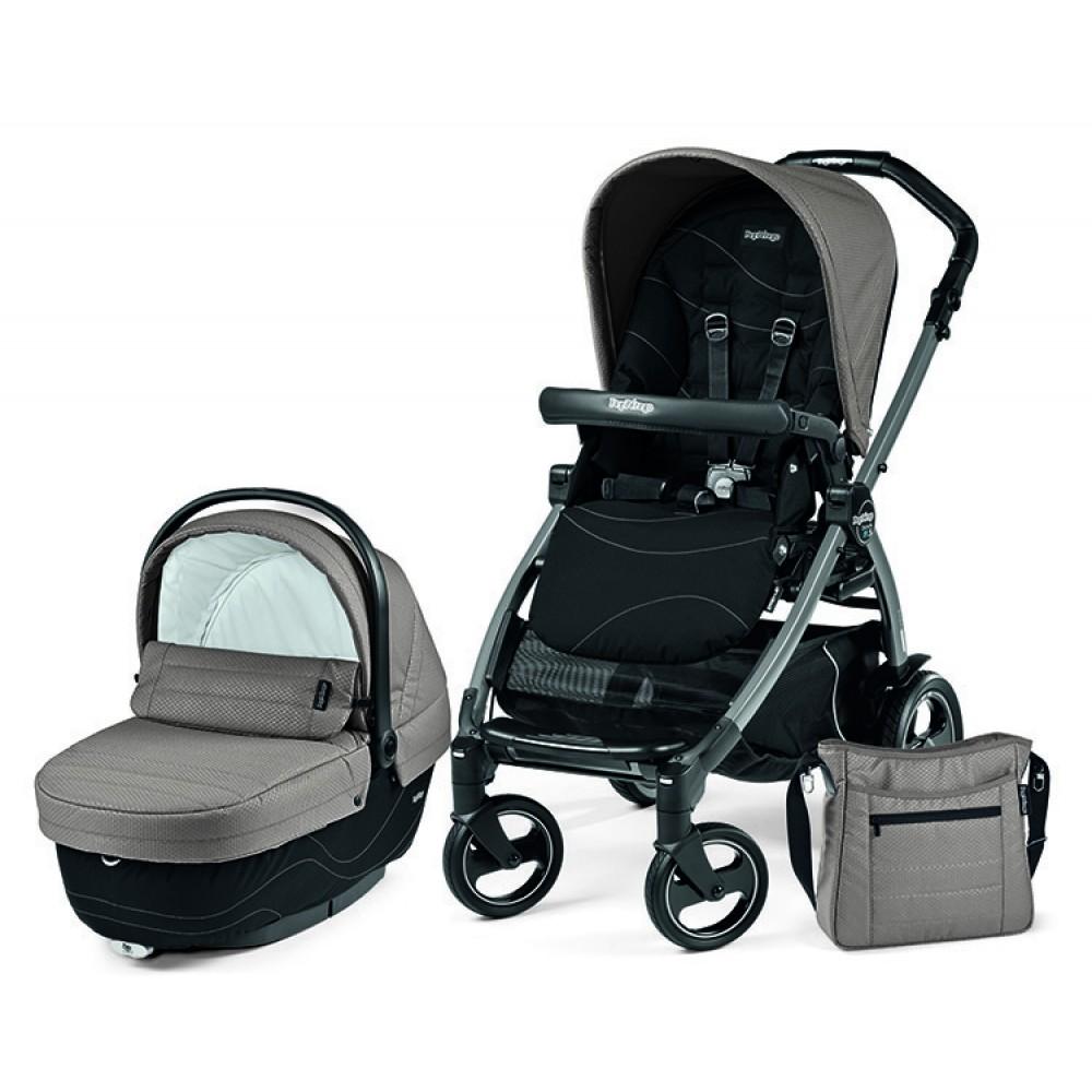 Детская коляска Peg-Perego Book 51 XL Modular 3 в 1 (Серый/черный)