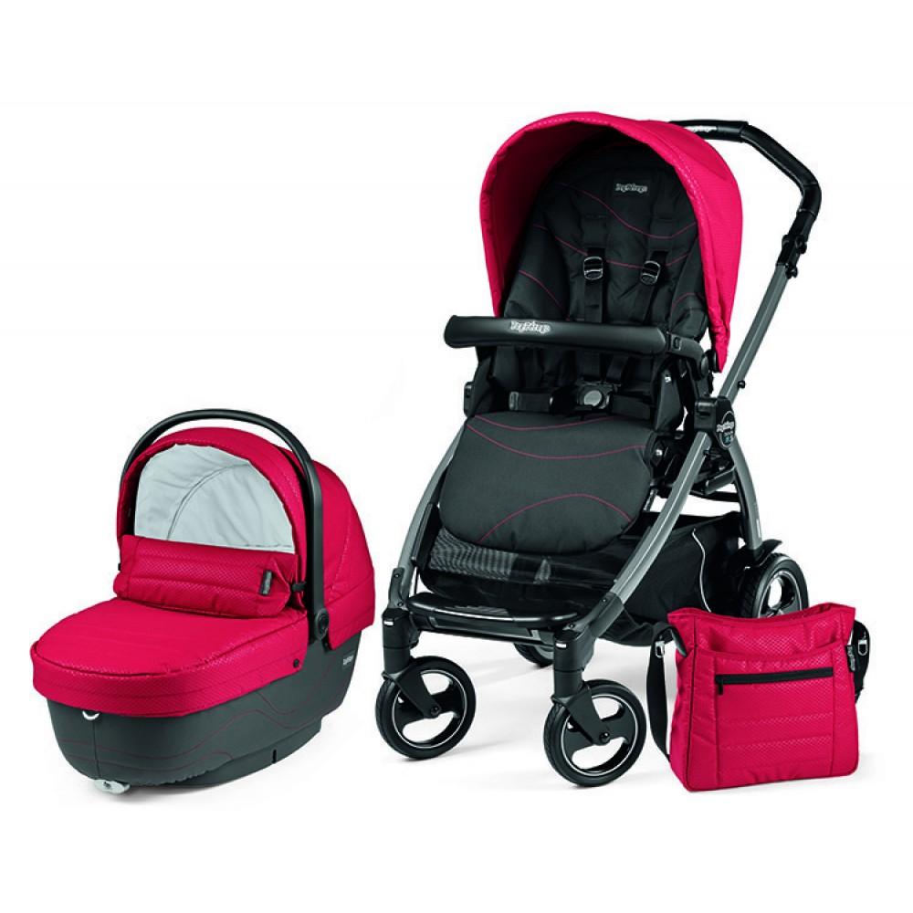 Детская коляска Peg-Perego Book 51 XL Modular 2 в 1 (красный/черный)