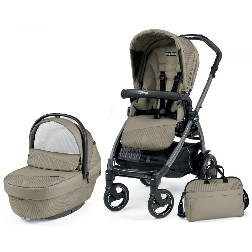 Детская коляска Peg-Perego Book 51 S XL Modular 3 в 1 (Бежевый)