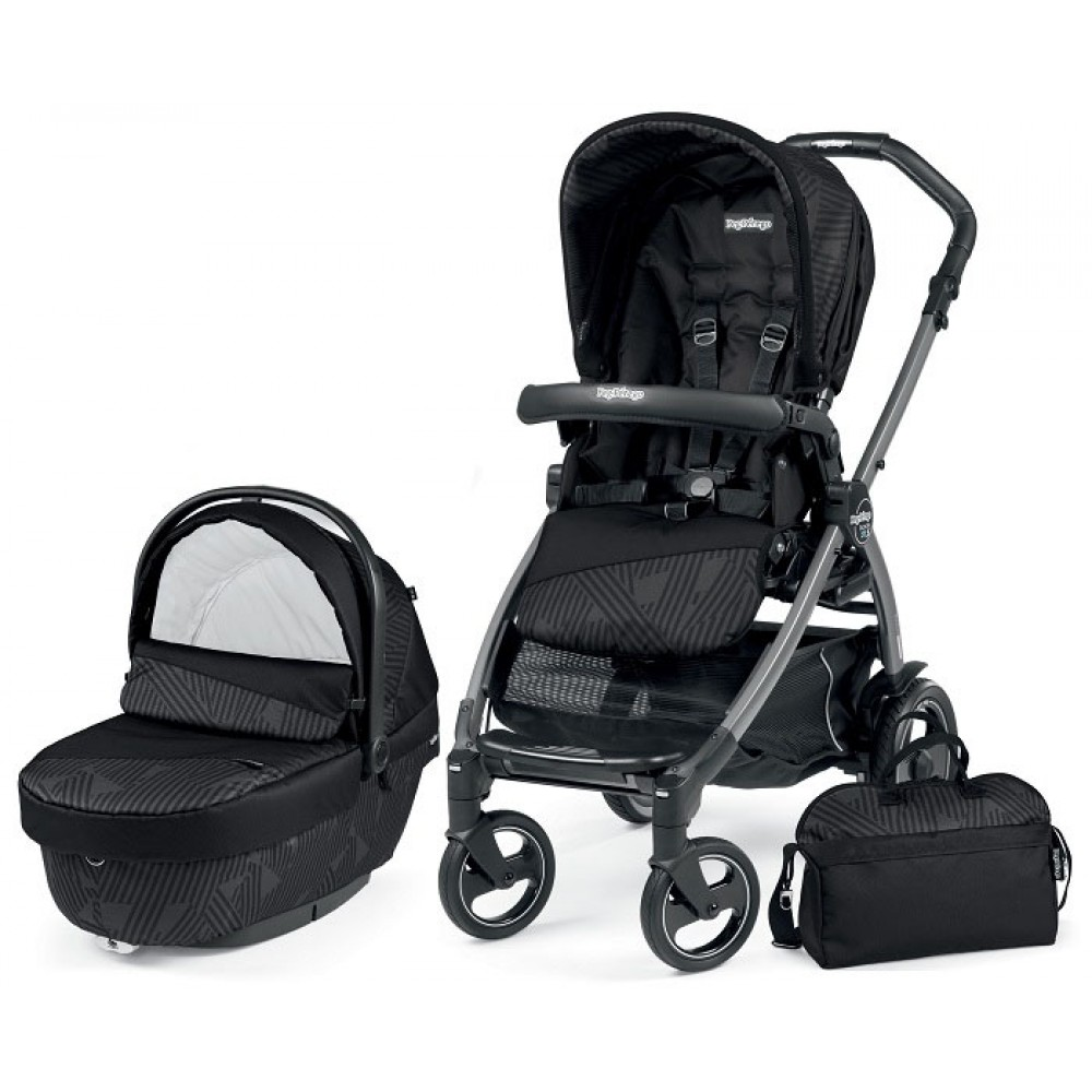 Детская коляска Peg-Perego Book 51 S XL Modular 3 в 1 (Чёрный)