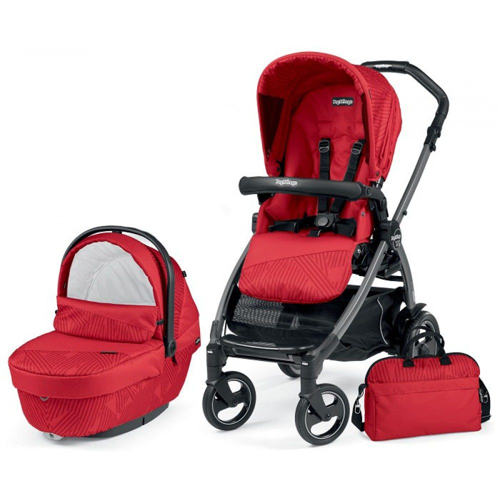 Детская коляска Peg-Perego Book 51 S XL Modular 3 в 1 (Красный)