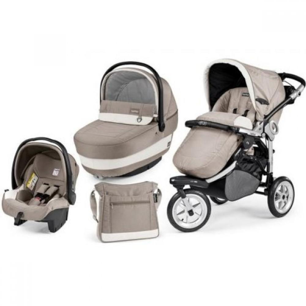 Детская коляска Peg-Perego GT3 Completo Modular system 3 в 1 (Серый)