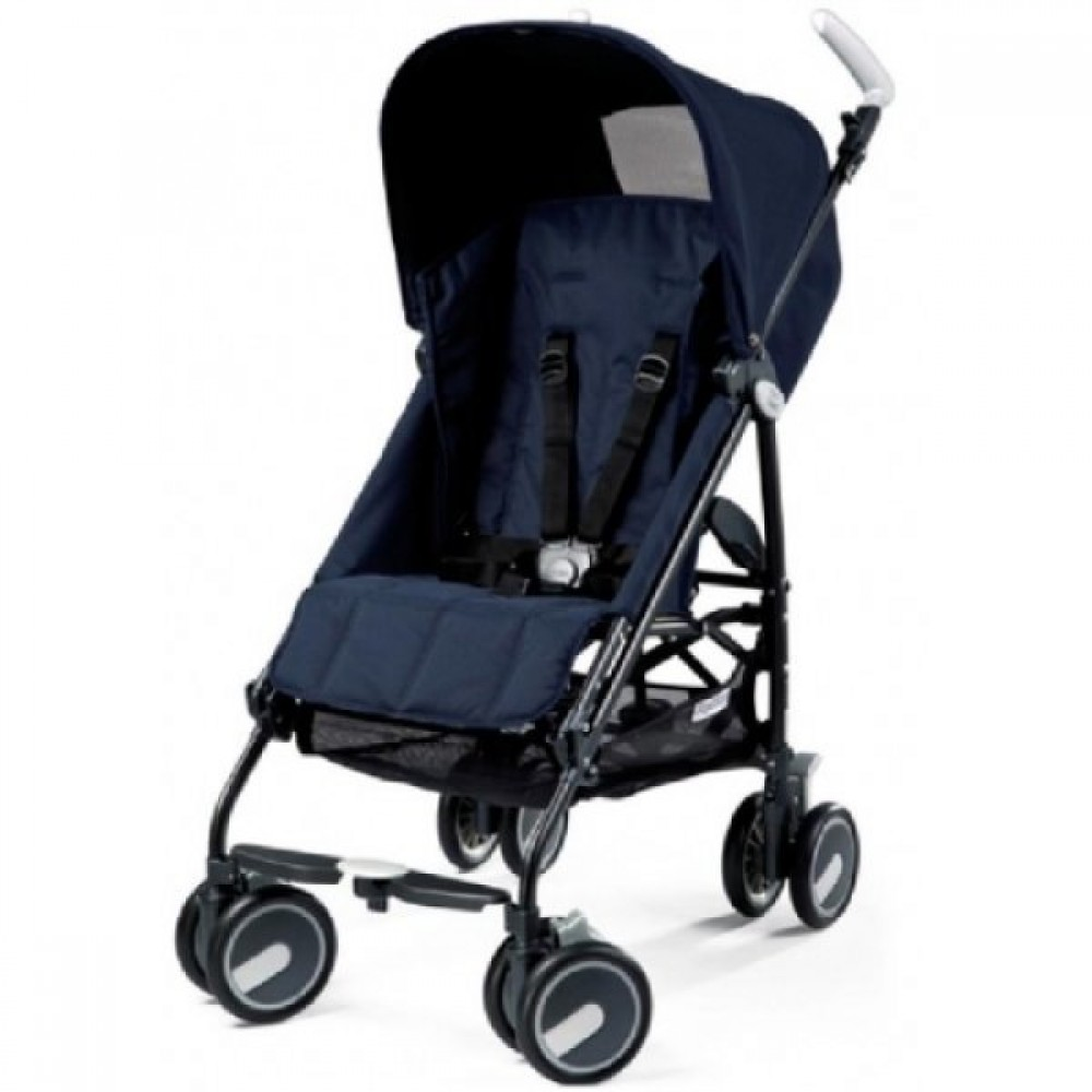 Детская коляска Peg Perego Pliko Mini с бампером (Синий)