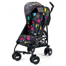 Детская коляска Peg Perego Pliko Mini с бампером (Чёрный/разноцветный)