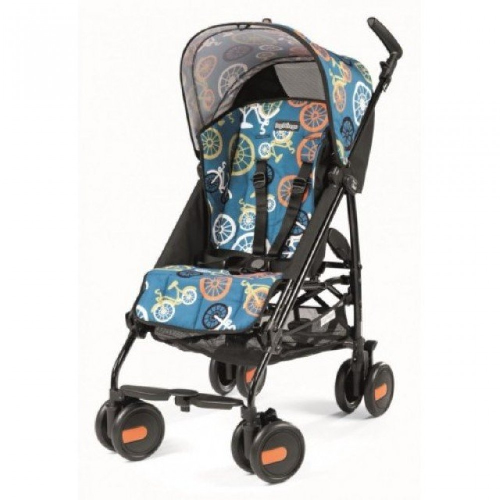 Детская коляска Peg Perego Plico mini без бампера (Голубой/рисунок)