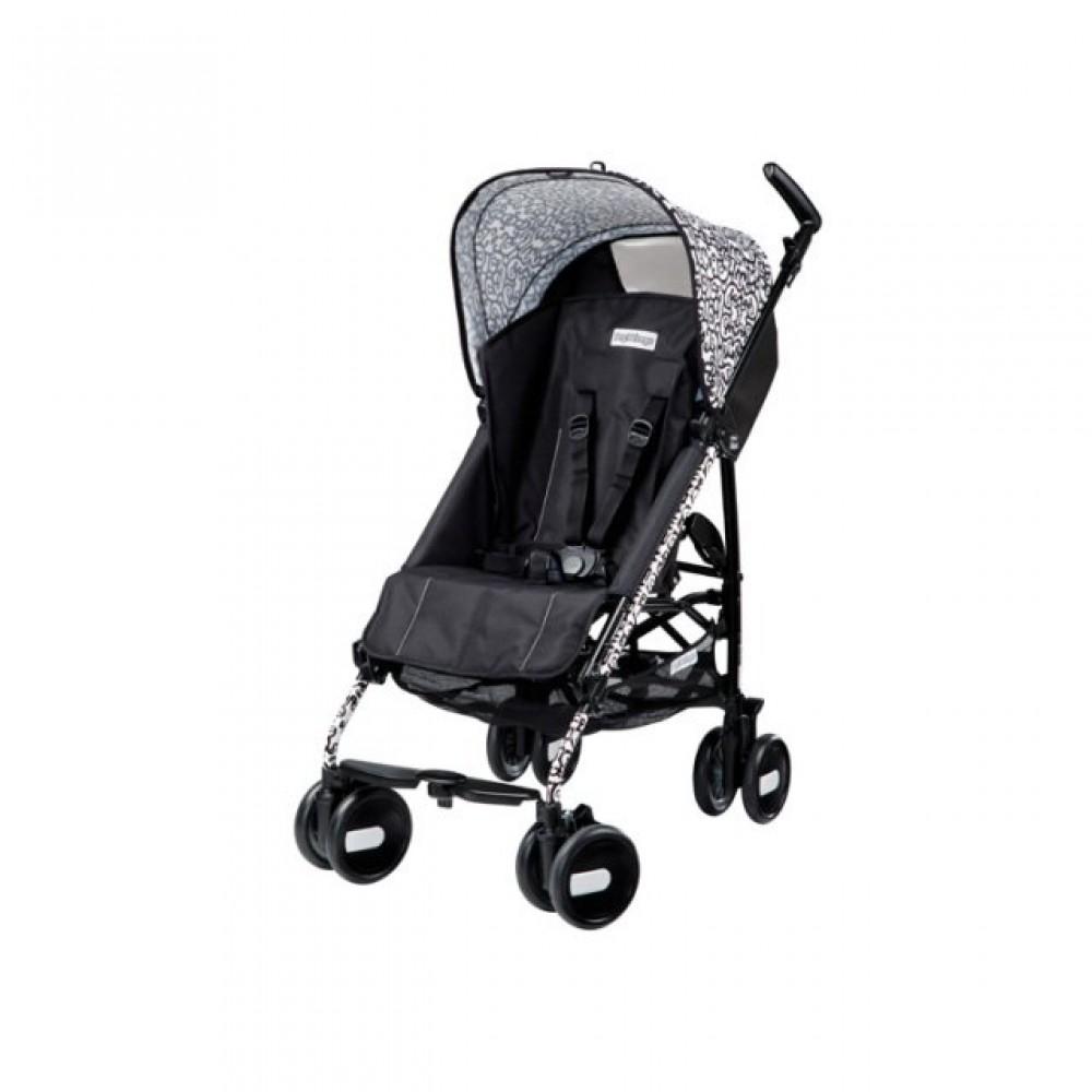 Детская коляска Peg Perego Plico mini без бампера (Чёрный/белый)