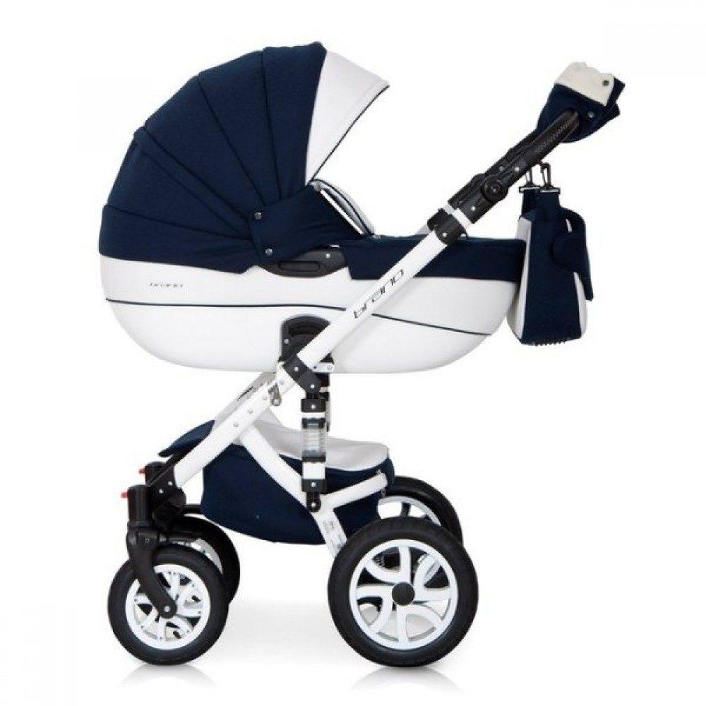 Детская коляска Riko brano ecco 3 в 1 (Синий/белый)