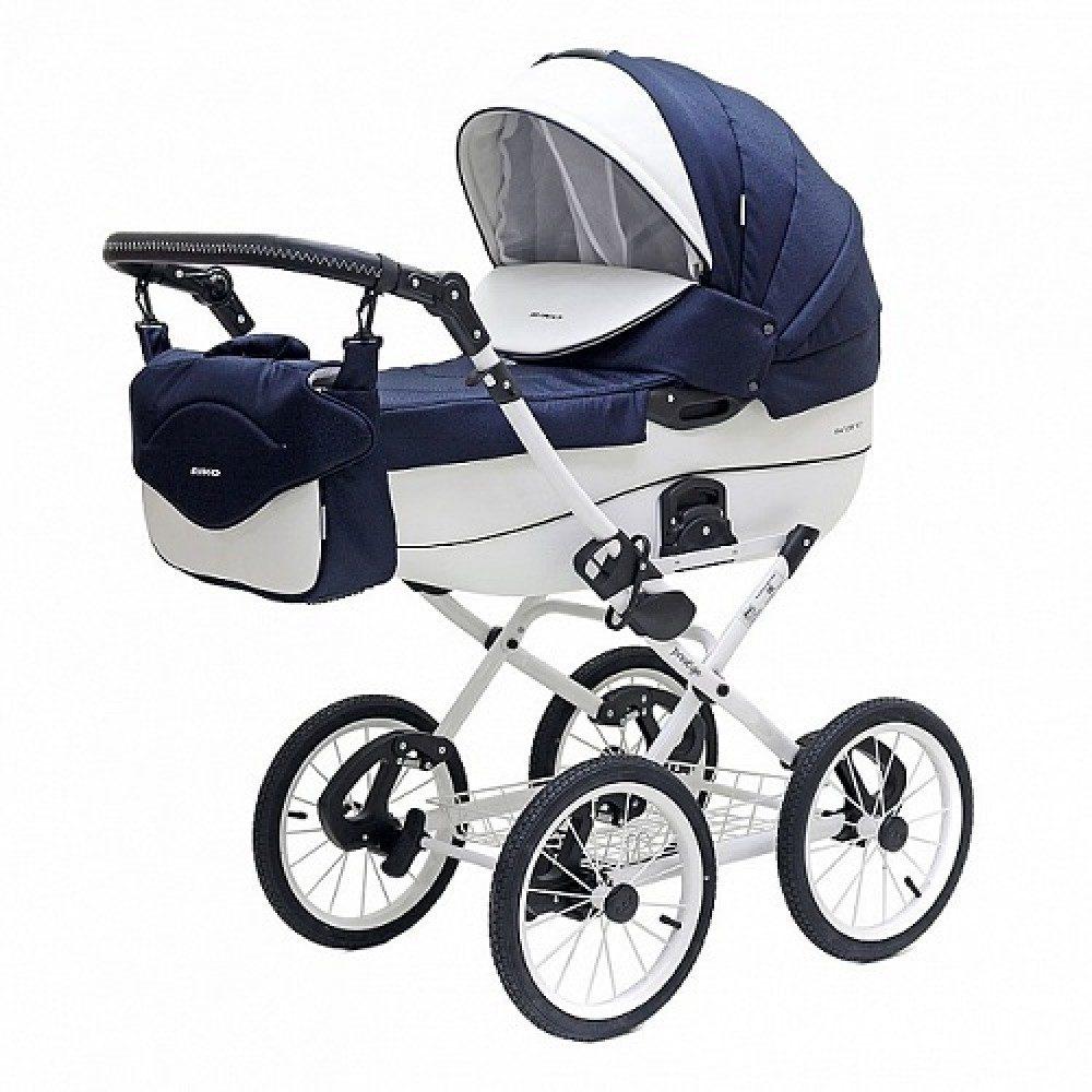 Детская коляска Riko Brano Ecco Prestige 2 в 1 (Синий/белый)