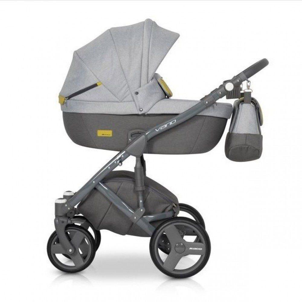 Детская коляска Riko Vario 2 в 1 (Серый)
