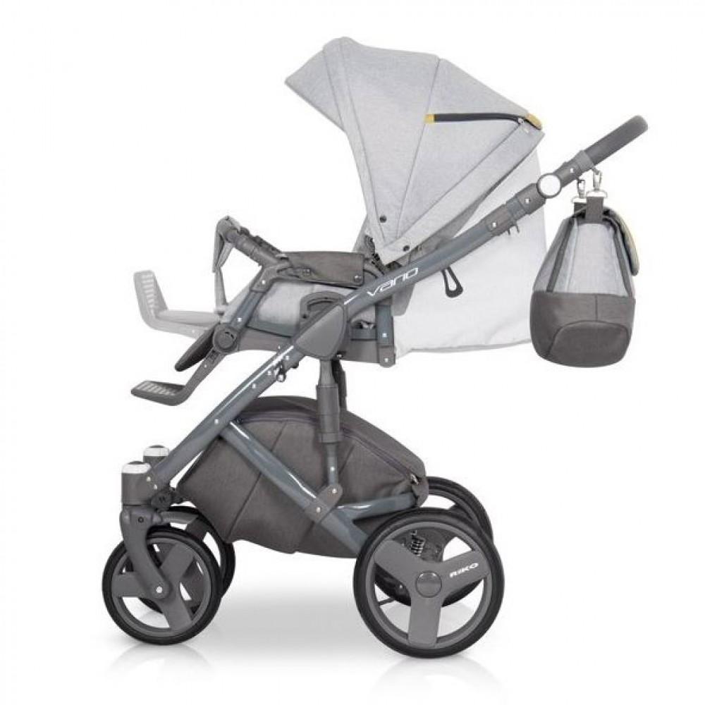 Детская коляска Riko Vario 3 в 1 (Серый)