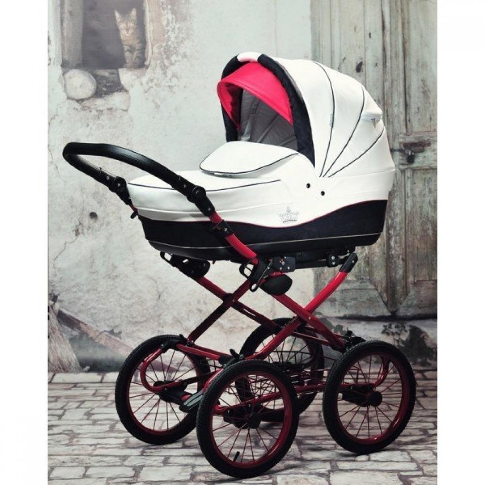 Детская коляска Esperanza Classic Crown 2 в 1 (100% Эко-кожа) (белый)
