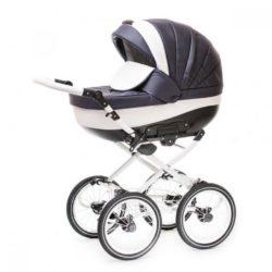 Детская коляска Esperanza Lotus Classic Eco 3 в 1 (белый/синий)