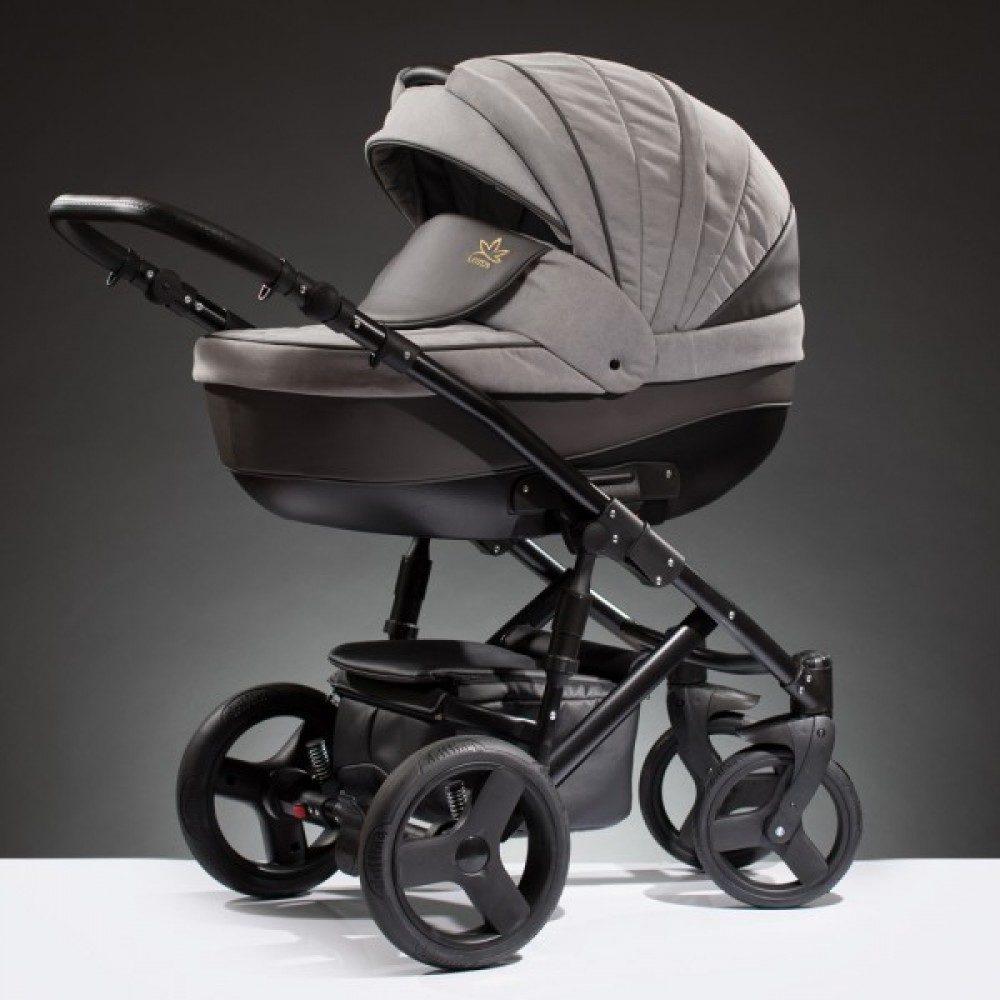 Детская коляска Esperanza Lotus Puento 3 в 1 (серый/коричневый)