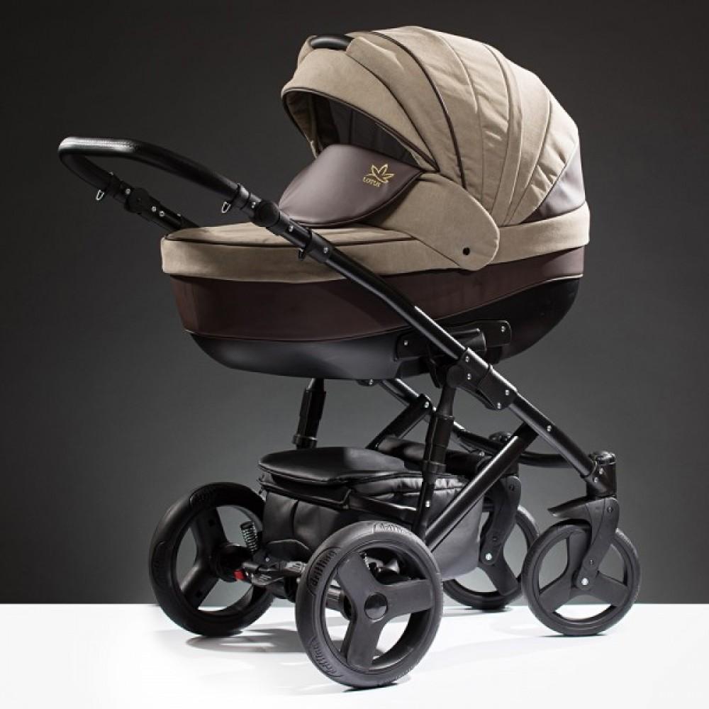 Детская коляска Esperanza Lotus Puento 3 в 1 (коричневый/бежевый)