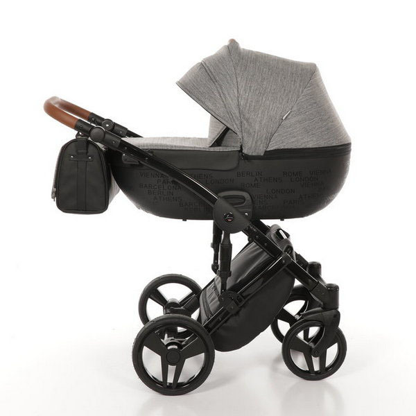 Детская коляска Junama City 3 в 1 (светло-серый)