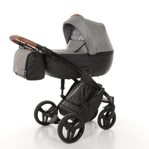 Детская коляска Junama City 3 в 1 (темно-серый)