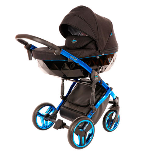 Детская коляска Junama Diamond Individual 2 в 1 (Чёрный/синий)