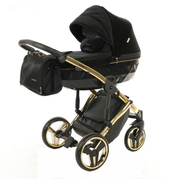 Детская коляска Junama Diamond Special 2 в 1 (черно-золотой)