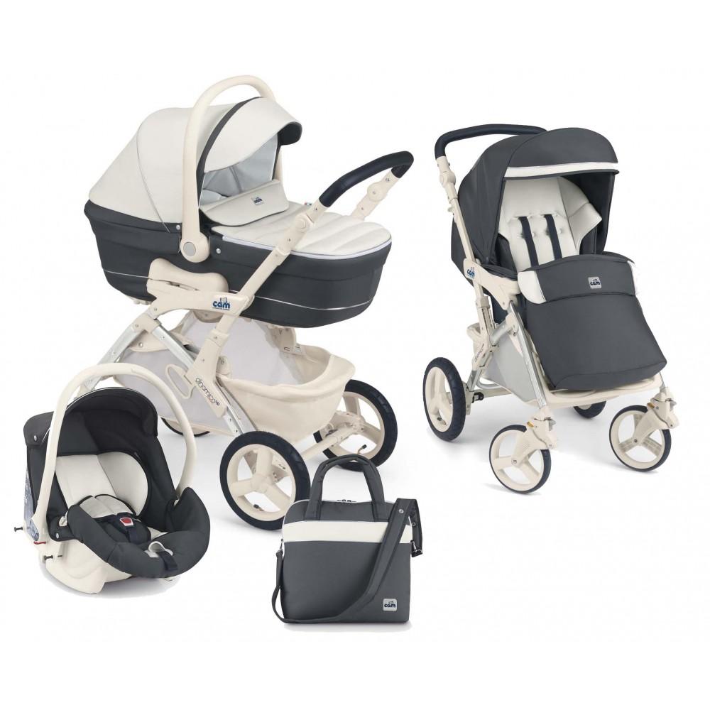 Детская коляска Cam Dinamico Up 3 в 1 (бежевый/серый)