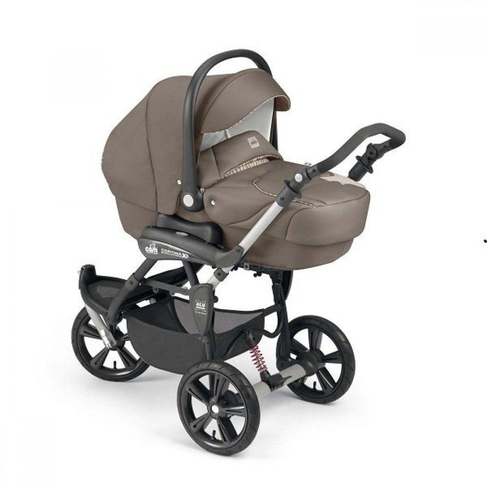 Детская коляска Cortina X3 Tris Evolution 3 в 1 (коричневый)