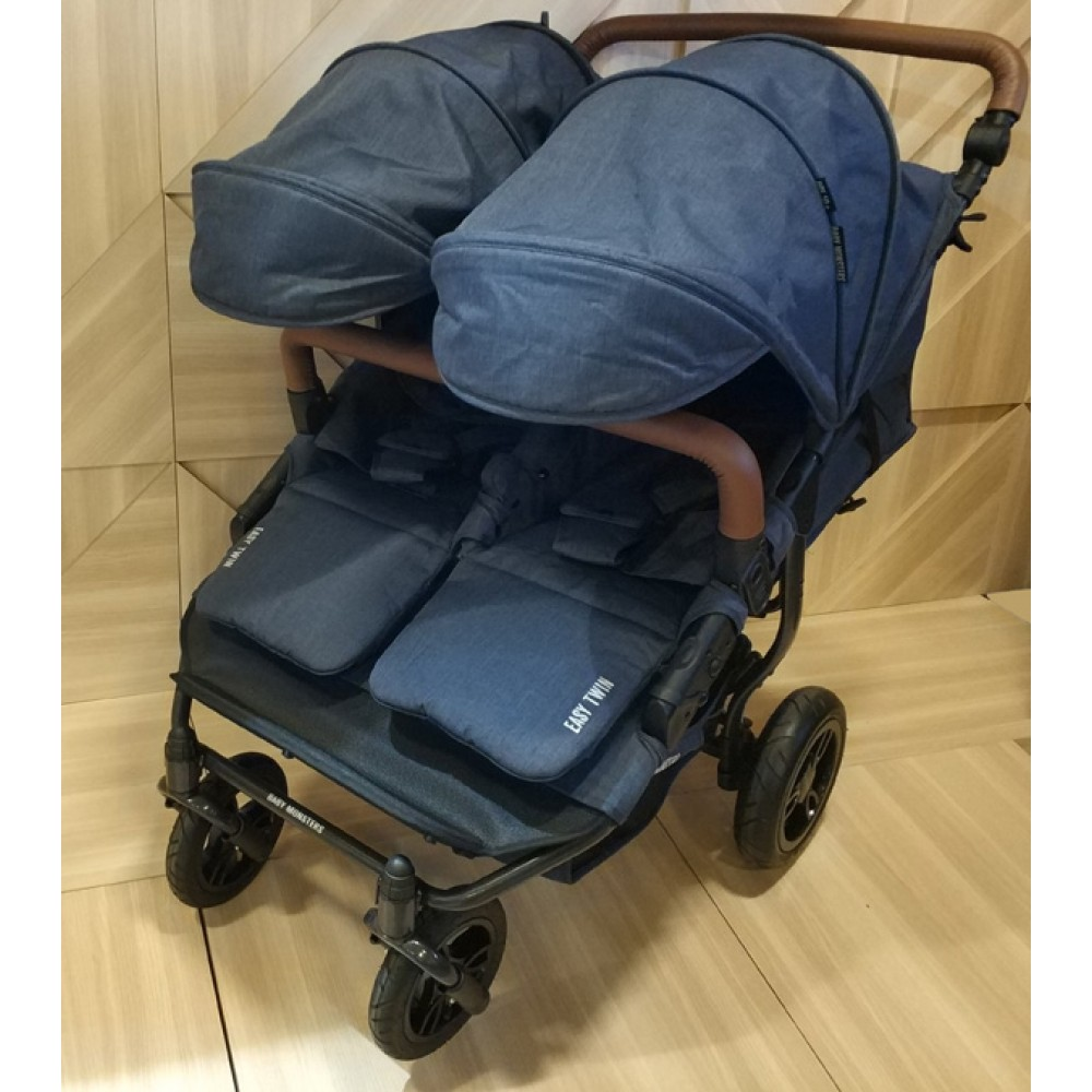 Прогулочная коляска для двойни Baby Monsters Easy Twin 2в1