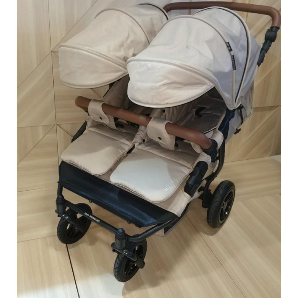Прогулочная коляска для двойни Baby Monsters Easy Twin 3 в 1