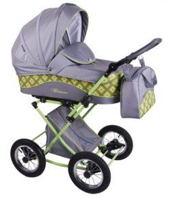 Детская коляска LONEX BERGAMO 2 В 1 (серый)