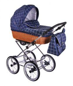 Детская коляска LONEX CLASSIC RETRO 2 В 1 (синий)