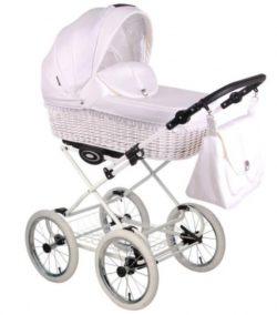 Детская коляска LONEX CLASSIC RETRO 3 в 1 (Белый)