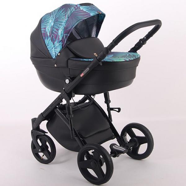 Детская коляска LONEX COMFORT GALAXY 3 В 1 (черный с рисунком)
