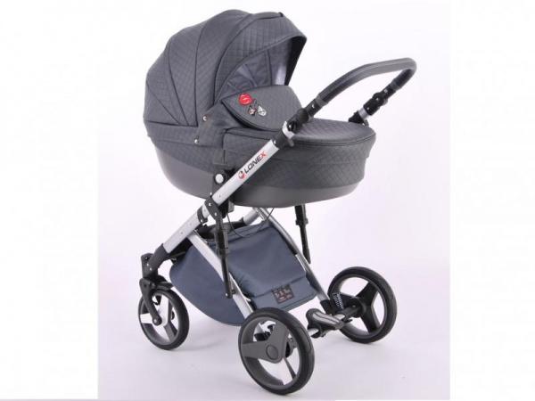 Детская коляска LONEX COMFORT SPECIAL 3 В 1 (синий/серый)